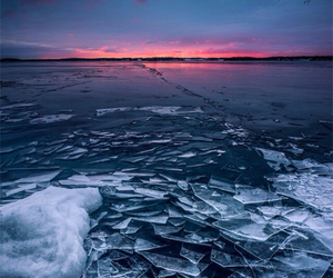 sweden, ice, and sea image