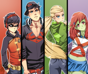 young justice, artemis, and DC image