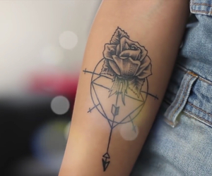 arm, flowers, and flor image