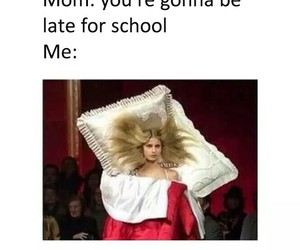 school, funny, and Late image
