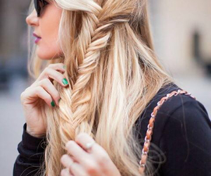 blond, capelli, and blond hair image