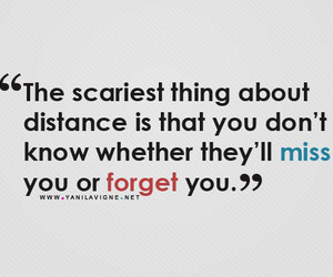 distance, forget, and miss image