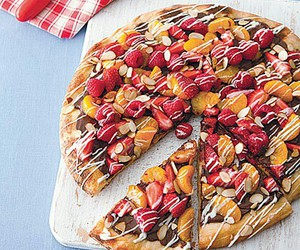 pizza, chocolate, and dessert image
