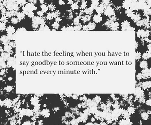 goodbye, quotes, and flowers image