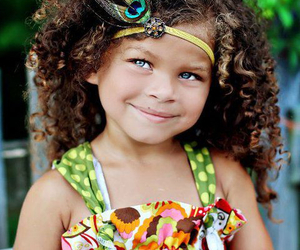 girl, curly, and eyes image
