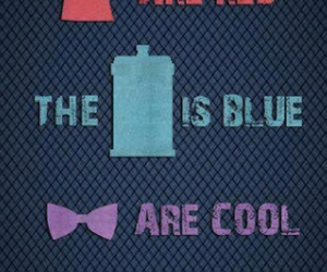 blue, doctor who, and red image