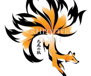 chinese, fox, and kitsune image