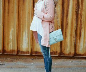 girl, pregnant, and outfit image