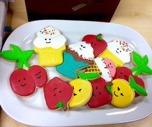 apple, colorful, and Cookies image