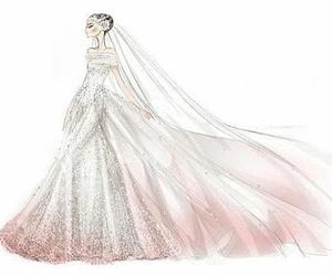 dress, Valentino, and wedding image