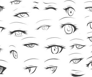 manga, eyes, and different eye styles :p image