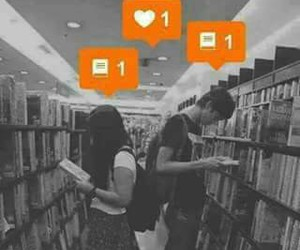 love, book, and boy image
