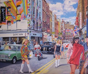 art, carnaby street, and trevor mitchell image