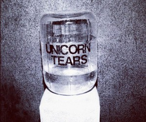 unicorn, tears, and pink image