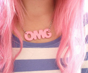 OMG, hair, and pink image
