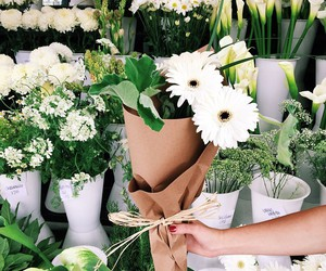 bouquet, white, and florist image