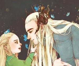 fanart, hobbit, and Legolas image