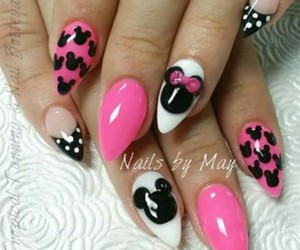 mickey mouse, minnie mouse, and nails image