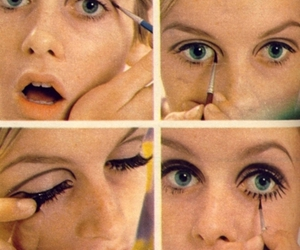 twiggy, make up, and makeup image