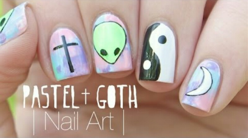 Soft Grunge Nail Art Discovered By Adriana Guadalupe
