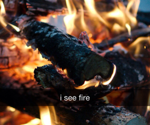 burn, ed, and fire image