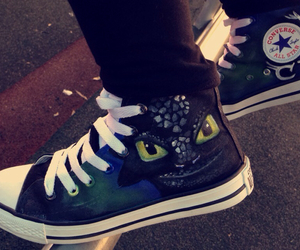 converse, high tops, and toothless image