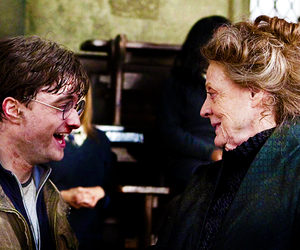 harry potter, daniel radcliffe, and maggie smith image