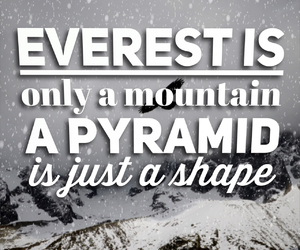 believe, Lyrics, and mountain image