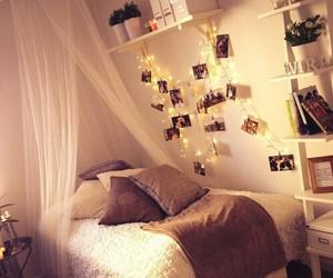 bedroom, memories, and lights image