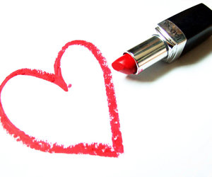 lipstick, red, and heart image
