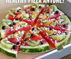 pizza, healthy, and fruit image