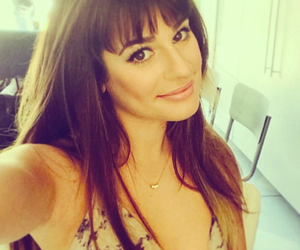 lea michele, glee, and selfie image
