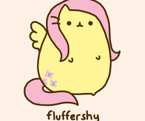 pusheen, cat, and fluttershy image