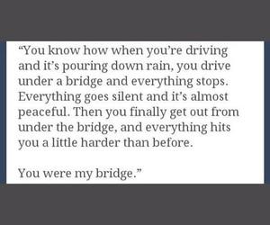 quotes, love, and bridge image