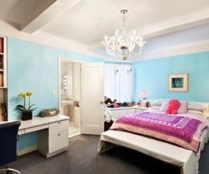 bedroom, blue, and decoration image