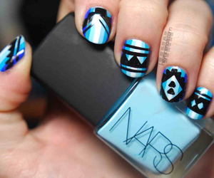 nails, blue, and nars image