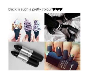 black, nails, and summer image