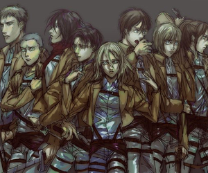 anime and shingeki no kyojin image