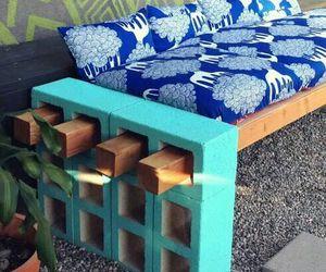 diy, bench, and garden image
