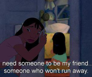 friends, quotes, and lilo image