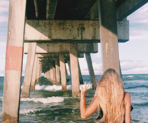 beach, blonde, and boho image