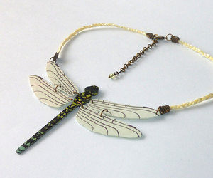 dragonfly, jewelry, and necklace image