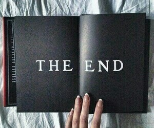 black, book, and end image