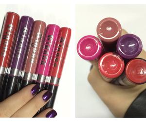 lipstick, liquid, and makeup image