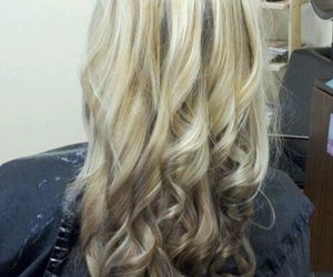 blonde, curly hair, and hairstyle image
