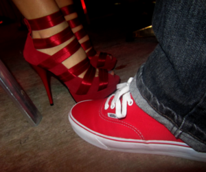 red, shoes, and vans image