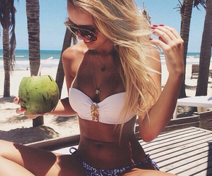beach, hipster, and girl image