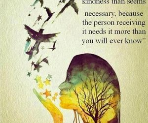 quote, kindness, and bird image