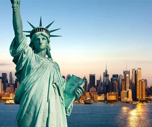 new york, city, and freedom image
