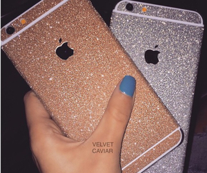 glitter, iphone, and case image